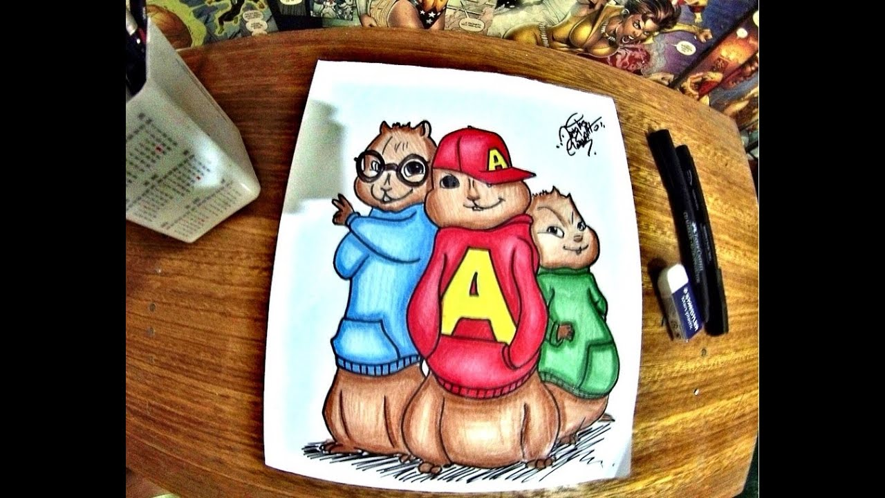 Alvin E Os Esquilos Desenhando Youtube