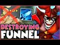 DESTROYING GOLD FUNNELERS WITH DARK HARVEST SHACO! NEW OP SUPPORT BUILD!