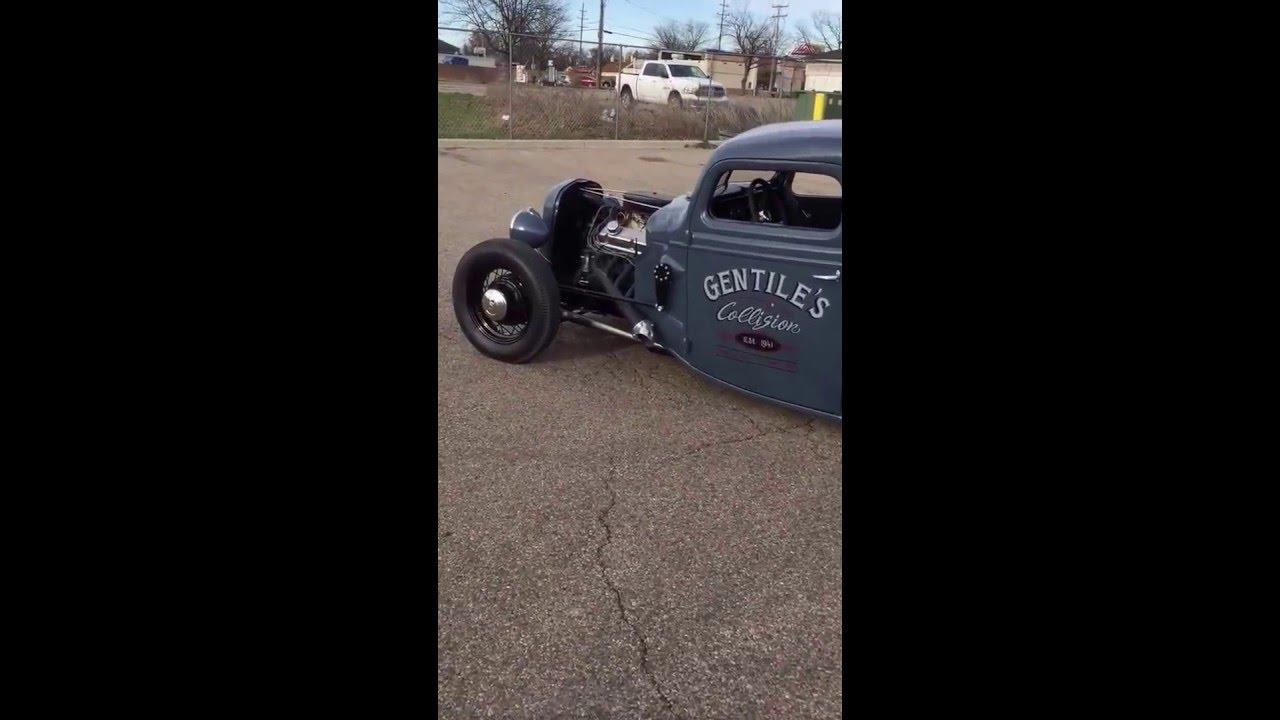 1937 Pickup walk around. Hot rod, rat rod, V8, bagged, 302 Ford ...