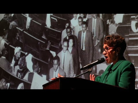 Civil Rights activist Frances Hamilton at Gaston Day School