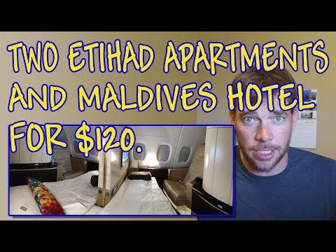 Travel Hack 008 - Booking Etihad Apartments + Conrad Hilton Maldives for just $120 ($30k+ value)