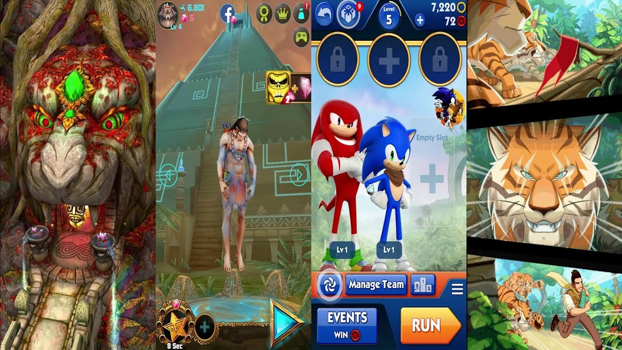 Temple Run 2 Jungle Fall Vs Spirit Run Vs Sonic Dash 2 Sonic Boom Vs Danger  Dash