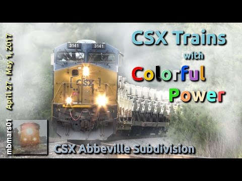 [4w] CSX Trains with Colorful Power, Railfanning the Abbeville Sub, 04/27-05/01/2017 ©mbmars01