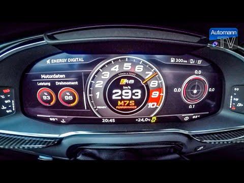 Audi R8 V10 Plus (610hp) - 0-300 km/h LAUNCH Control (60FPS)