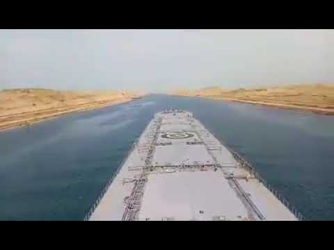 TRANSITING SUEZ CANAL || EGYPT ||  CONNECTED RED SEA & MEDITERRANEAN SEA ||  GULF OF SUEZ ||