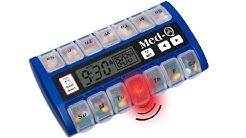 Med-Q medication alarm clock is the best pill dispenser.