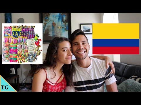 Trying Colombian Halloween Candy with My Boyfriend! thumbnail