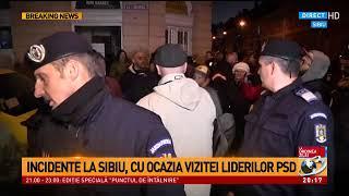 Incidente la Sibiu, cu ocazia vizitei liderilor PSD, Dragnea și Tudose