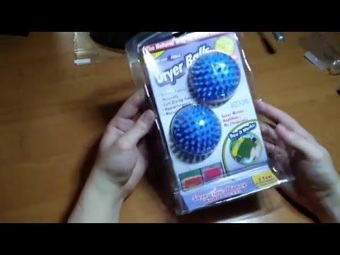 Посылка из Китая. Шарики для смягчения белья (Dryer Balls)
