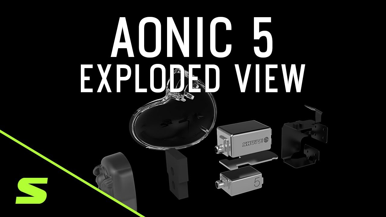 AONIC 5 // Sound Isolating Earphones (Matte Black + Clear) video thumbnail