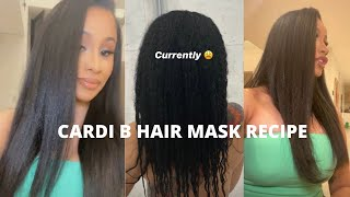 CARDI B ALOE VERA HAIR MASK RECIPE FOR KULTURE *UPDATE*