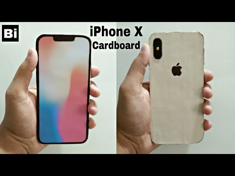 How to make iPhone X (Gold) from Cardboard | DIY iPhone X : Cardboard | Bi
