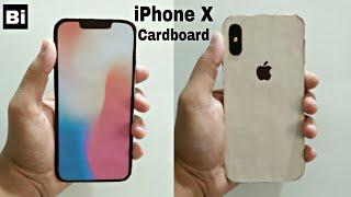 How to make iPhone X (Gold) from Cardboard | DIY iPhone X : Cardboard | Bi