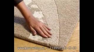 Карвинговые индийские шерстяные ковры ручной работы