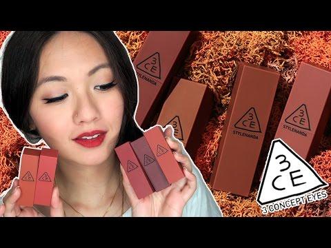 3ce-mood-recipe-matte-lip-color-lipsticks-swatches-&-review