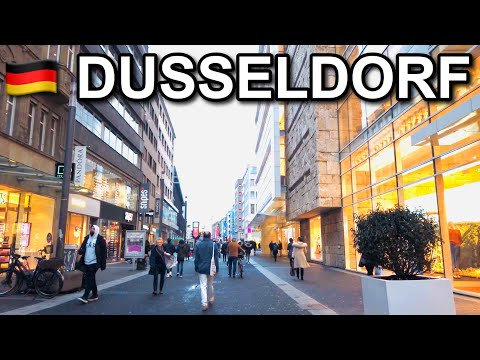 [4K] Dusseldorf Germany Walking Tour in 2020 - Shopping close to the Königsallee