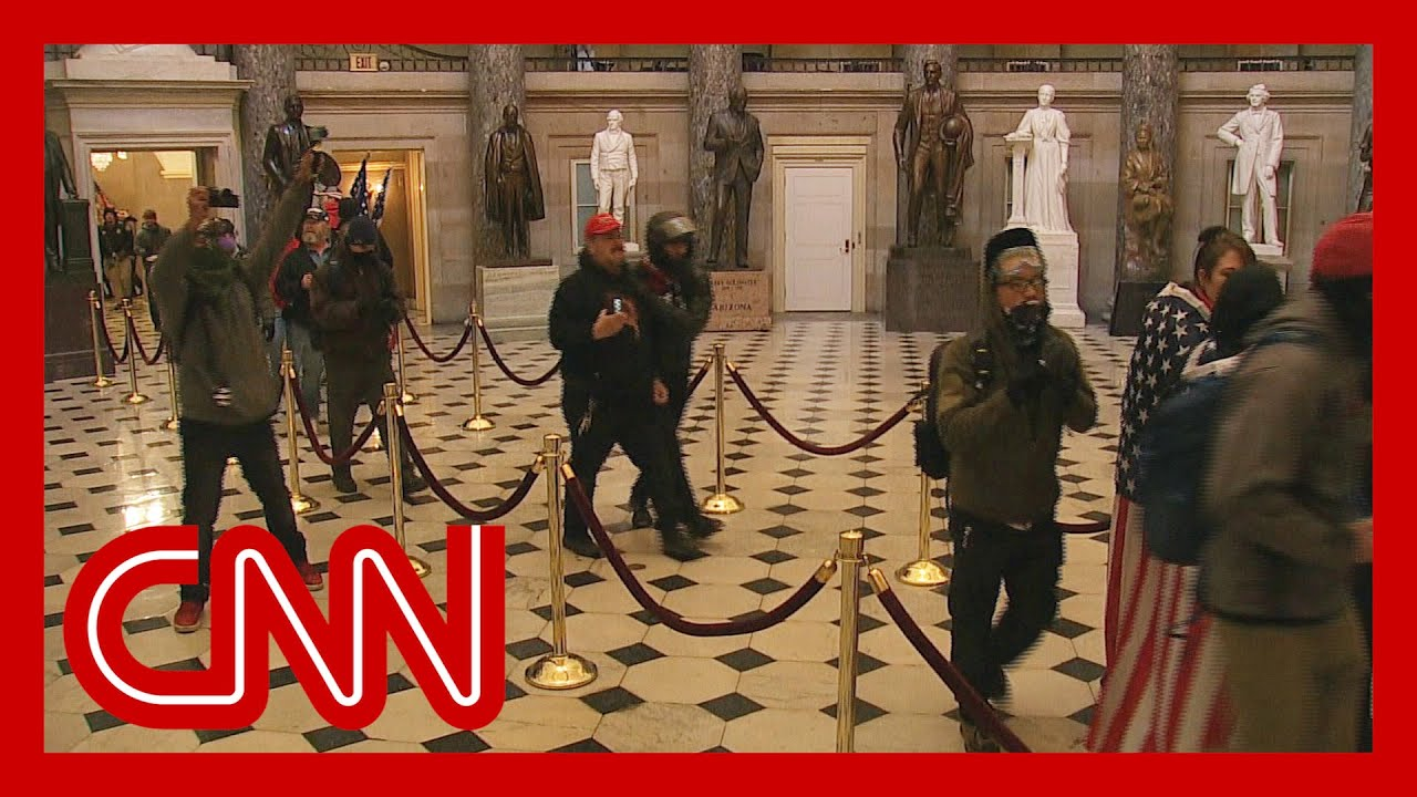 See stunning video of rioters inside Capitol