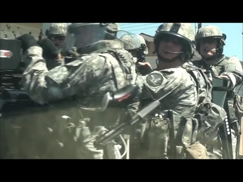 RIOT POLICE in Full Force ANAHEIM, CALIFORNIA - SWAT TEAM military style  tactical police riot teams