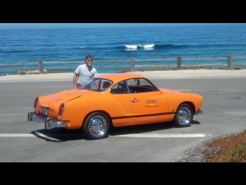 Electric VW Karmann Ghia cruising the Monterey Pennisula and Laguna Seca