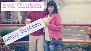 eva clutch louis vuitton review modeling shots what fits inside