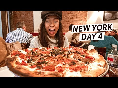 NYC's Best Pizza, Brooklyn Bridge & YAY! It Snowed!!! | New York City Travel Vlog/Food Tour - Day 4