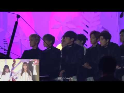161119 EXO AND SEVENTEEN Reaction To GFRIEND @ MMA 2016