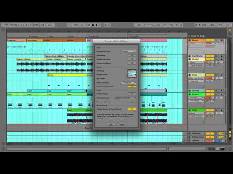 Ableton Live 9 Tutorial - Part 7: Exporting Audio