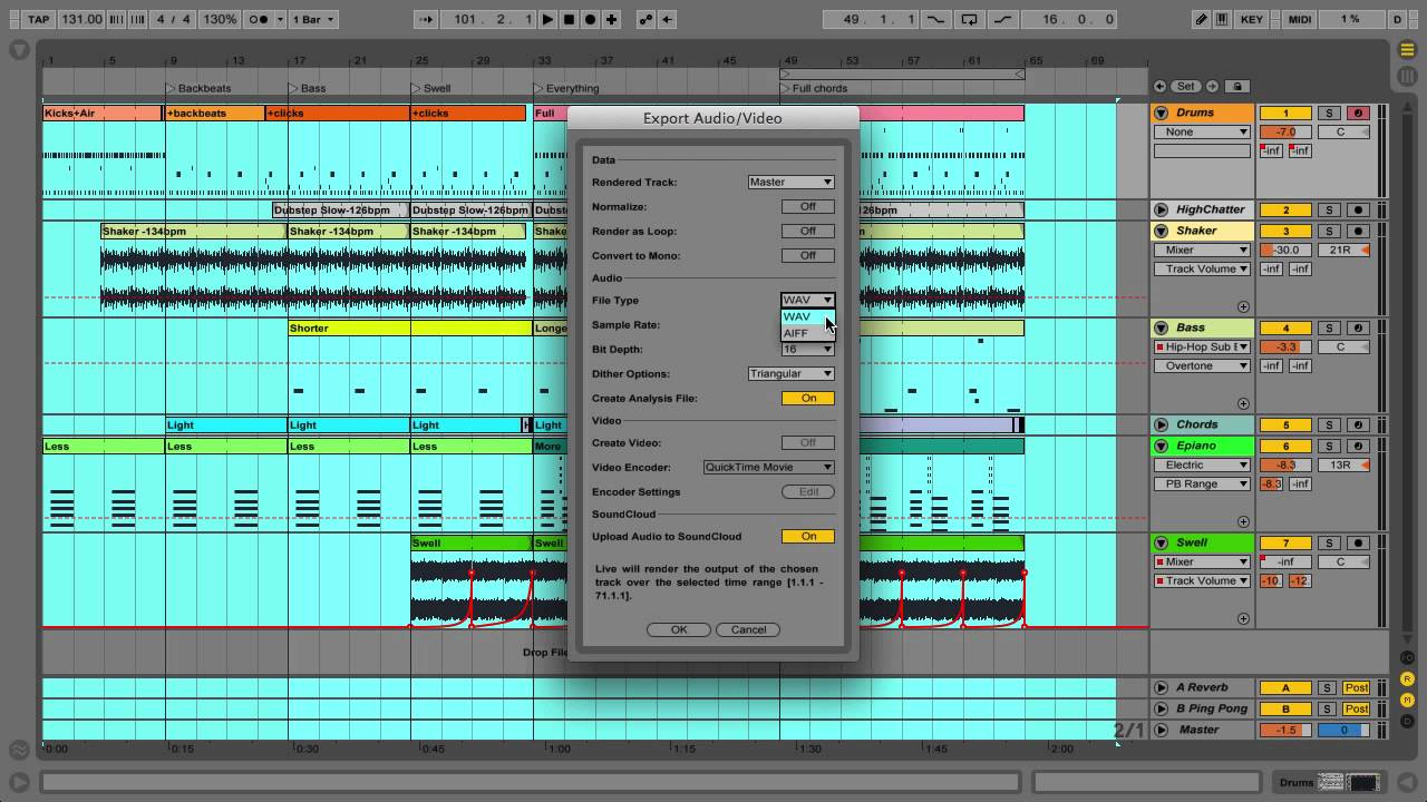Ableton Live 9 Tutorial – Part 7: Exporting Audio