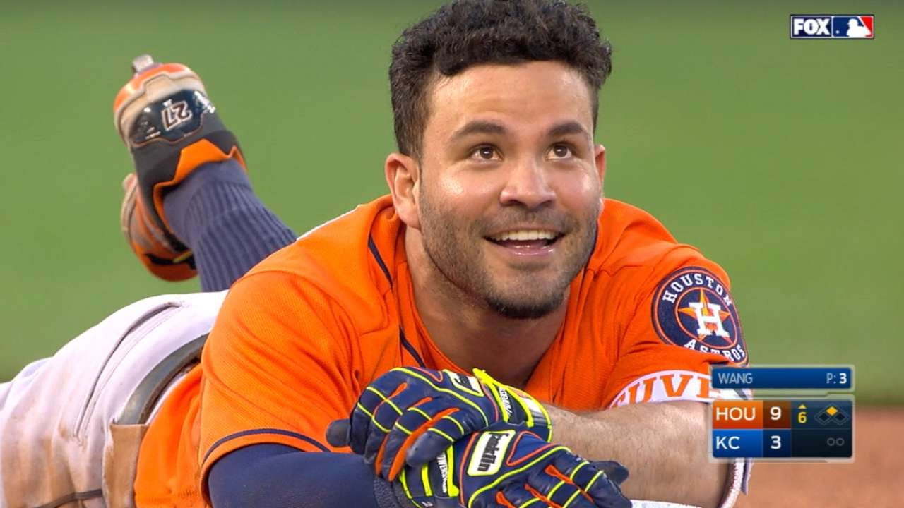 maxresdefault altuve nearly triples but trips on his helmet youtube