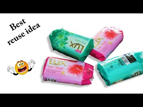 DIY  waste lux wrapper reuse use in crafts in different manner * best soap wrapper reuse idea