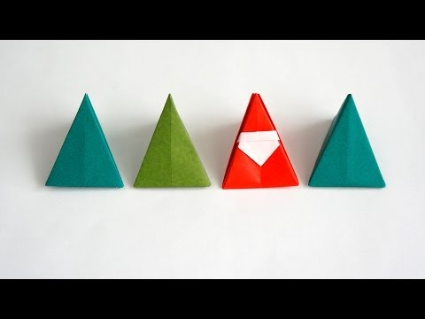 christmas origami santa and elf doovi