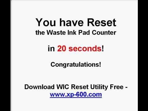 Reset contatori tampone wic reset utility resettare