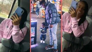 NBA YoungBoy and His Girlfriend Money Yaya Floyd Mayweather Daughter Riding Around (YB n Yaya Vibin)
