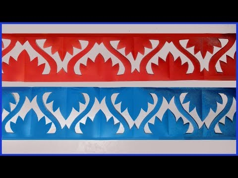paper cutting design - 4 | How to make paper cutting border designs | soft board border design-2019.