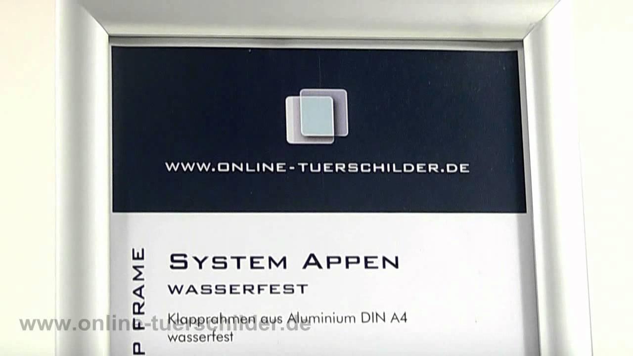 Klapprahmen regenfest DIN A4 Aluminium - Plakatrahmen - YouTube