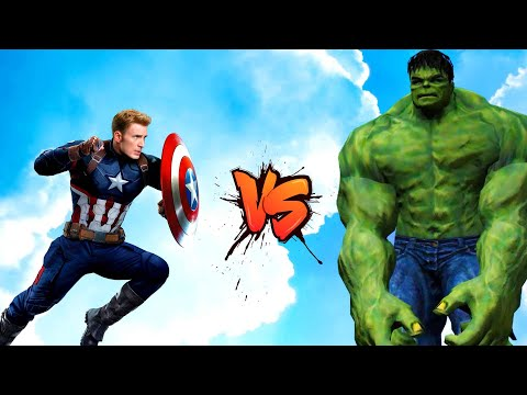 Captain America VS Hulk - Epic Battle - Part 1 | Grand Theft Auto V