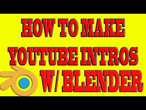 How To Make YouTube Intros With Blender