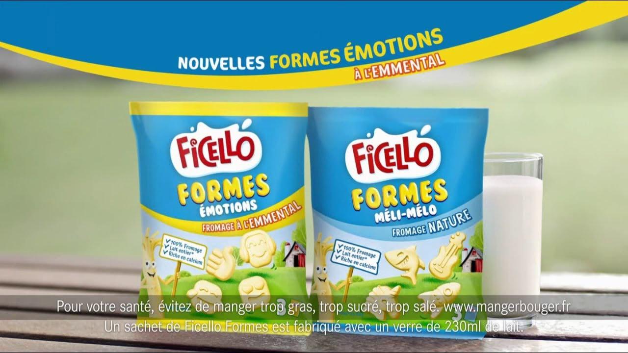 """Musique de la pub Ficello – Emmental formes émotions """"le fromage trop rigolo""""  2021"""