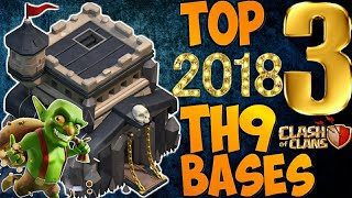 NEW TOP 3 TOWN HALL 9 FARMING/TROPHY BASES 2018! TH9 HYBRID DARK BASE UPDATE!! - CLASH OF CLANS