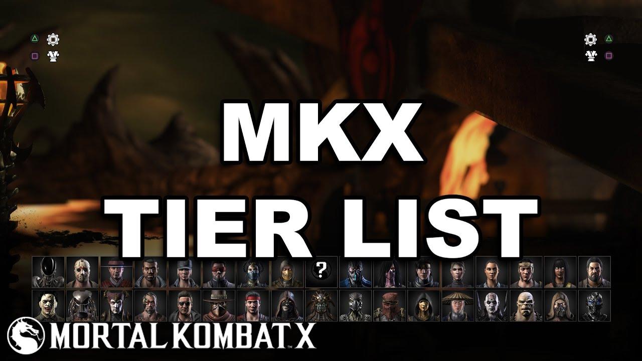Mortal Kombat X Final Tier List Youtube