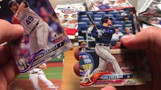 ASMR Whisper and Gum Chewing: 2018 Topps Opening day box opening