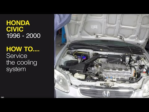 How to service the cooling system on a Honda Civic (96-00), CR-V (97-01), Acura Integra (94-00)