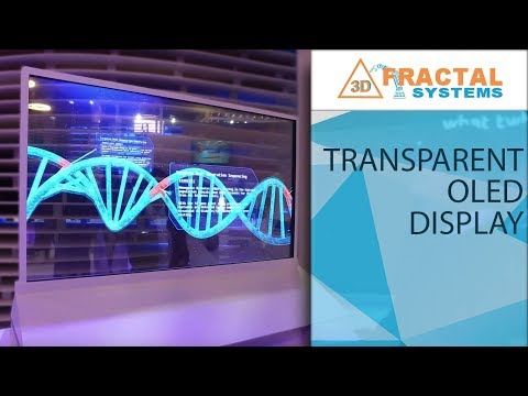 Transparent OLED Display - Arab Health ( Ministry of Health )