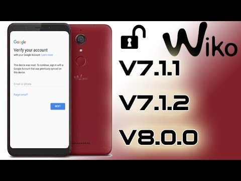 FRP 2018 ON ANY WIKO ANDROID 7 BYPASS GOOGLE ACCOUNT LAST UPDATE