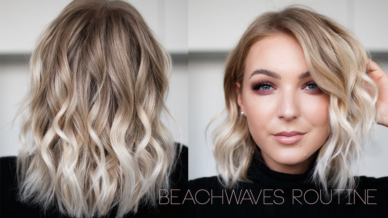 Beachwaves Haar Routine Youtube