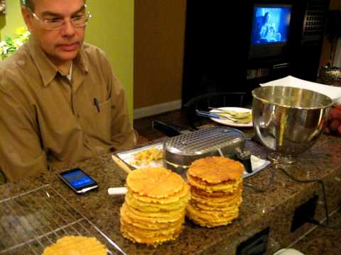 Italian Pizzelle Cookies baked by Frank (Yum)