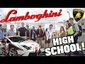 Driving My Lamborghini To High School Part 2! Funny Supercar Reactions!!
