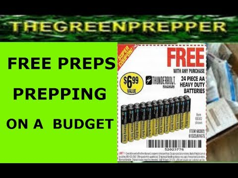 FREE PREPS - PREPPING ON A BUDGET ( DOOMSDAY PREPPERS )