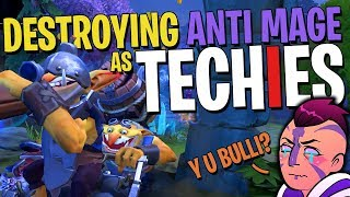 It Feels Good Destroying Anti Mage as Techies - DotA 2