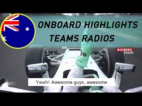 F1 2016 AUSTRALIA RACE | Onboard highlights-Teams Radios